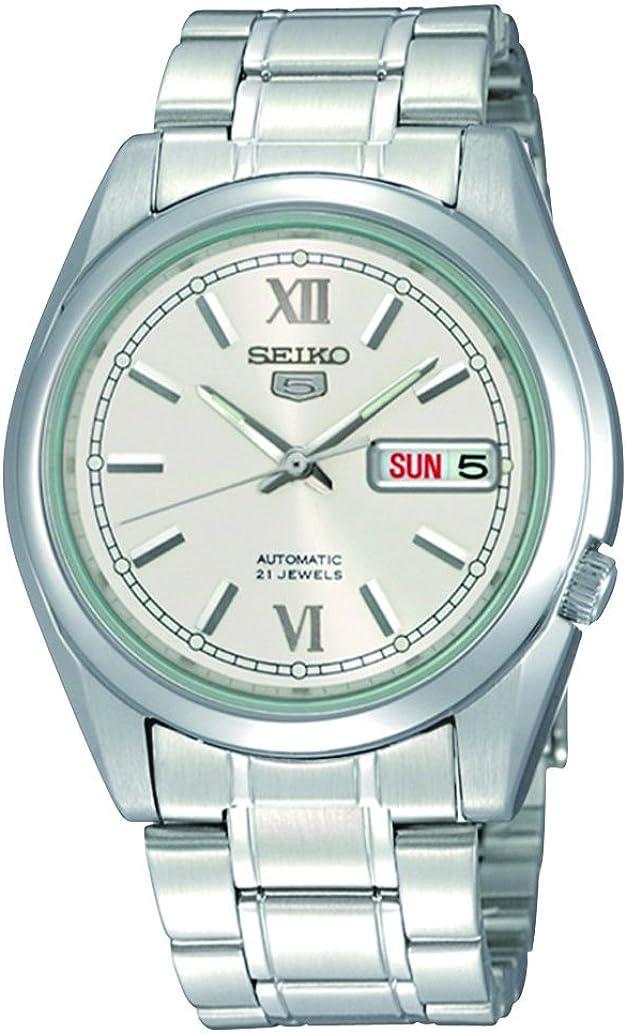 SEIKO Reloj Analógico para Hombre de Automático con Correa en Acero Inoxidable SNKL51K1