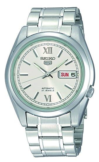 Seiko Reloj Analógico para Hombre de Automático con Correa en Acero Inoxidable SNKL51K1: Seiko: Amazon.es: Relojes