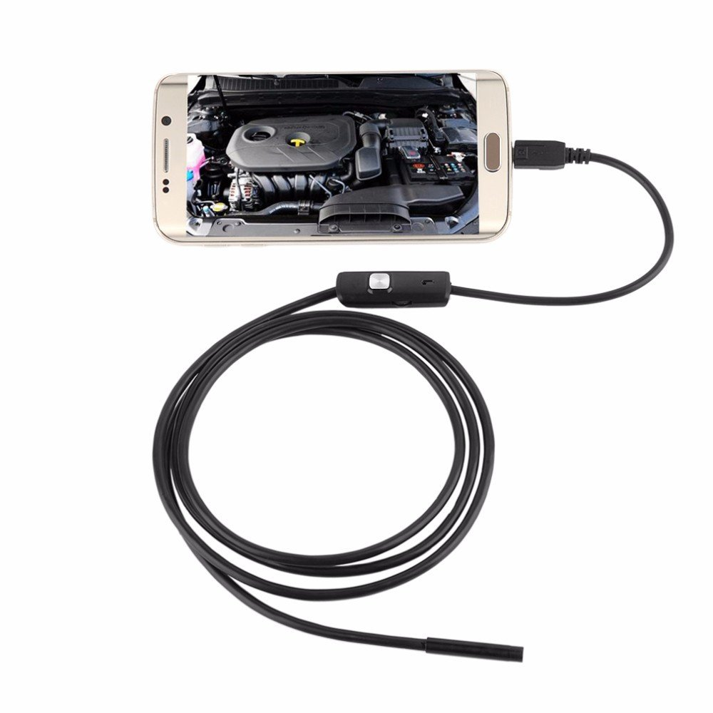 ETbotu 7mm Android OTG Micro USB Endoscope Waterproof Borescope Inspection Camera 6 LED 1m Cable 5.5mm 3.5m Cable