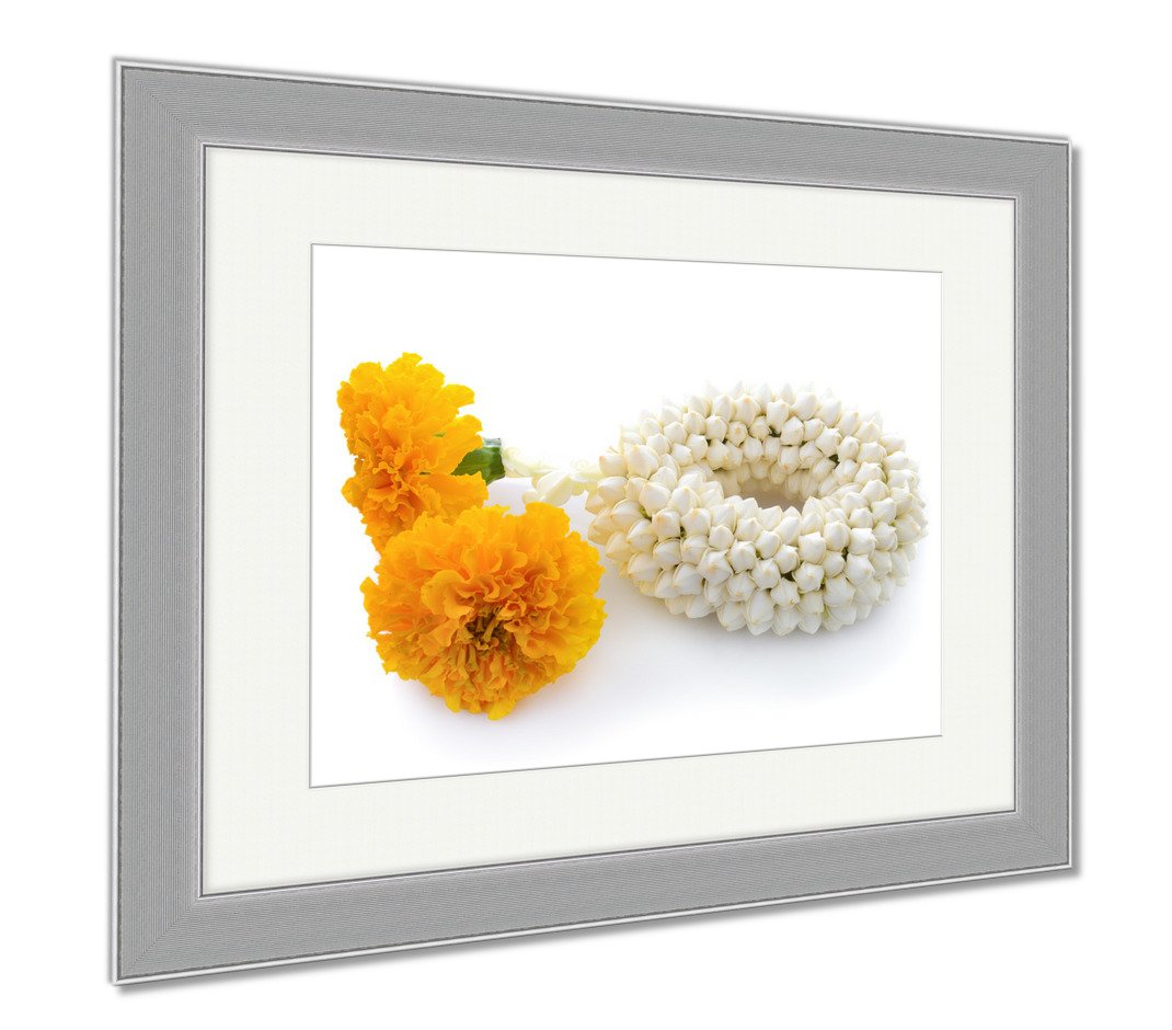 Ashley Framed Prints Malai The Flower In Thai Tradition Style, Wall Art Home Decoration, Color, 34x40 (frame size), Silver Frame, AG5876875 by Ashley Framed Prints