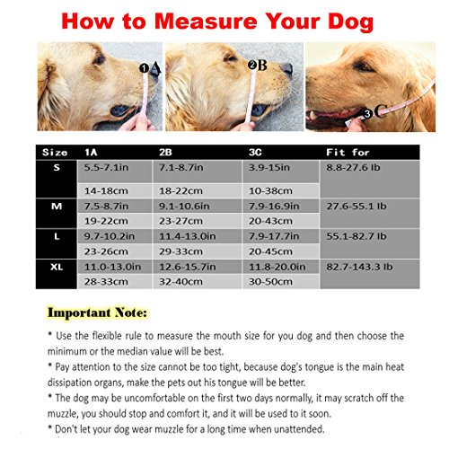Ennc Pet Muzzles Adjustable Anti-biting Leather Dog Muzzle Flexible Leather Breathable Safety Pet Dog Muzzles Mask for Biting and Barking Lightweight and Durable for Dogs Puppy by Ennc (Image #1)'
