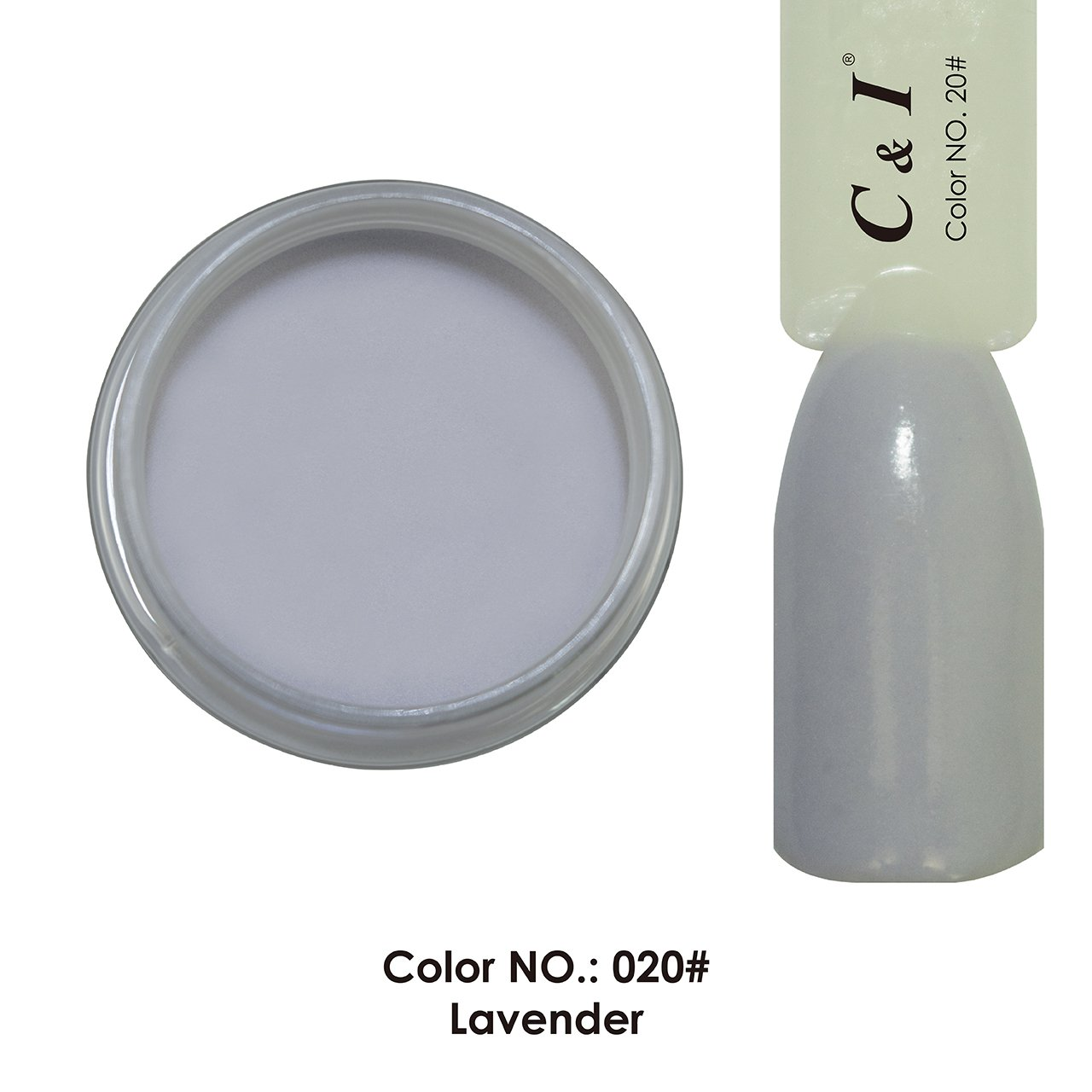 C & I Dipping Powder Color No.020 Lavender Purple Color System Fulei Trading