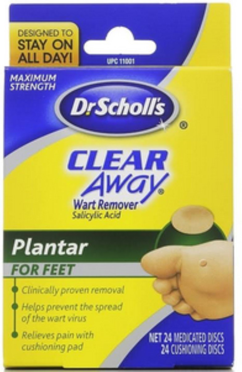 Dr. Scholl's Clear Away Wart Remover Plantar 24 Each (Pack of 9) by Bayer (Image #1)