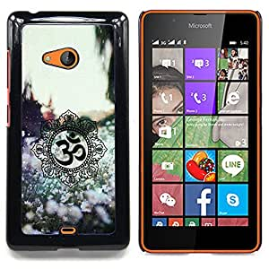 For Nokia Lumia 540 Case , Símbolos de primavera Flores - Diseño Patrón Teléfono Caso Cubierta Case Bumper Duro Protección Case Cover Funda