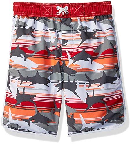 Wippette Toddler Boys' Swim Trunk, Shark Red, 3T