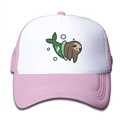 TRSDFG Snapback Hats Adjustable Mermaid Sloth Toddler Hats For Boys Girls Snapback Mesh Trucker