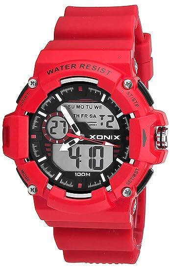 Deportivo Multifunción LCD/Analógico y Electrónico Reloj Xonix,Resistente al agua 100M,Temporizador