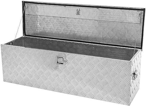 Amazon Com 49 Inch Aluminum Underbody Tool Box Truck Pickup Flat Bed Tongue Trailer Storage Waterproof Dual Lock Silver Home Improvement