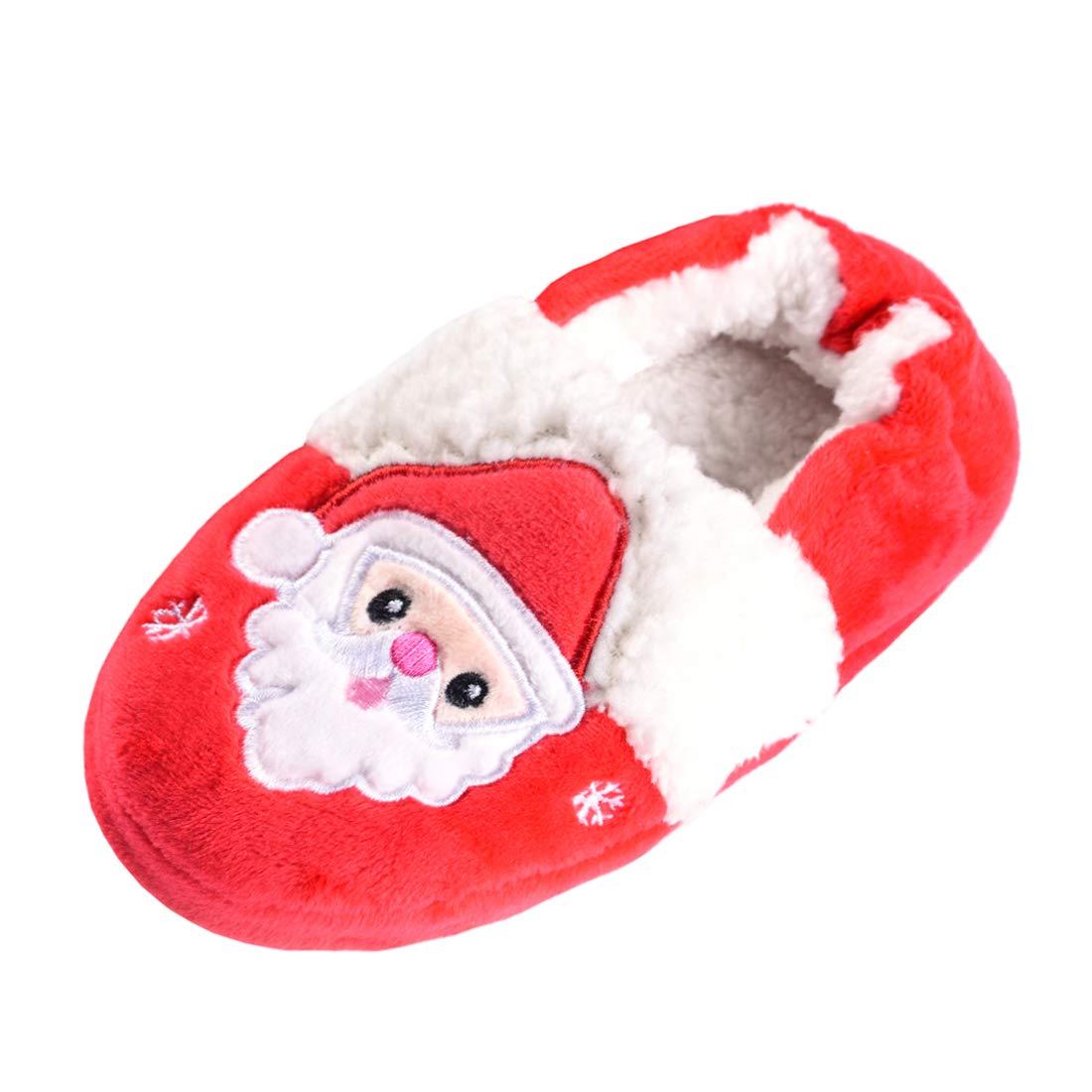 Beeliss Toddler Girls Slippers Cartoon Plush Warm Shoes