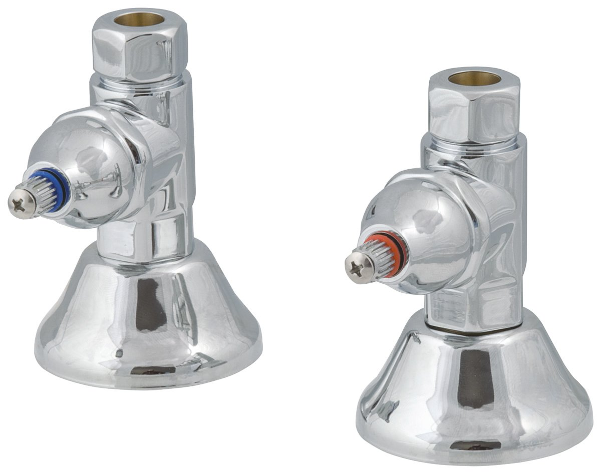 Elizabethan Classics ECNSS1CP Straight Supply Stops, Chrome