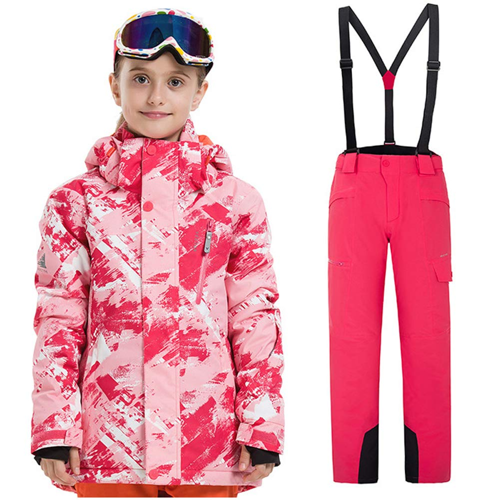 Sensfun Boys Girls Waterproof Ski Snowboard Jacket Pants Set Windproof Snow Snowboarding Coat