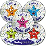 Holographic Maths Star School Reward Stickers 37 Millimetres x 35 - Primary Teaching Services