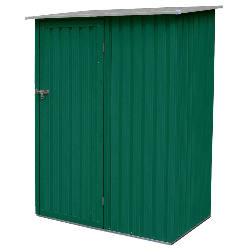 Caseta Florence para jardín o trastero, de chapa, 143 × 89 × 186 cm, color verde: Amazon.es: Bricolaje y herramientas