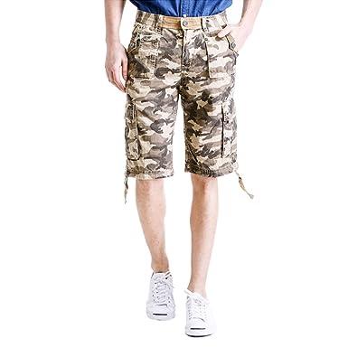 5d732aab18ac Rmine Herren Cargo Shorts Camo Kurz Hose  Amazon.de  Bekleidung