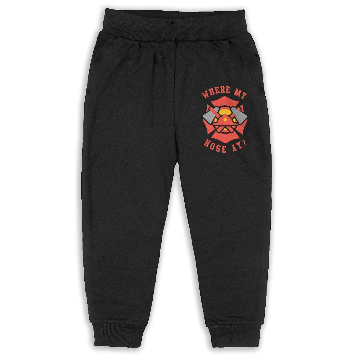Laoyaotequ Where My Hose at Fireman Kids Cotton Sweatpants,Jogger Long Jersey Sweatpants