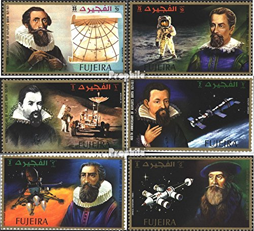 Fujeira 826A-831A (Complete.Issue.) 1972 400. Birthday of J. Kepler (Stamps for Collectors) Space