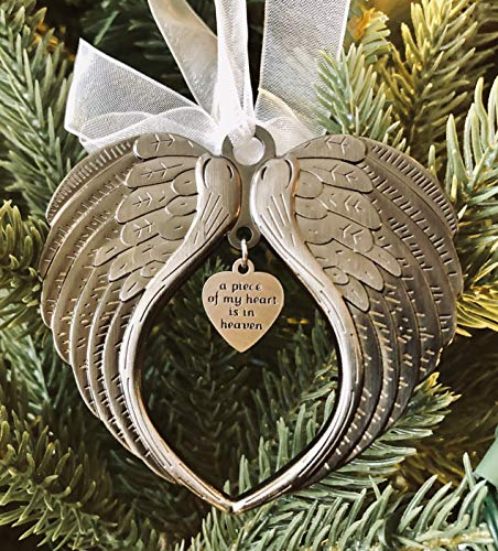 K9king A Piece Of My Heart Is In Heaven Christmas Ornaments