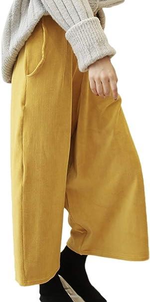 Pantalones Palazzo Mujer Elegantes Otoño Color Sólido Pantalon ...