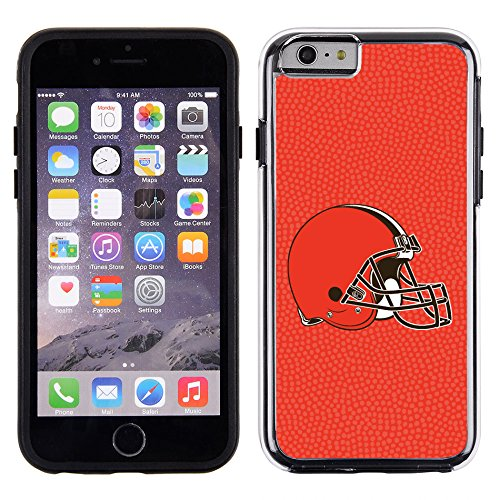 NFL Cleveland Browns Phone CaseTeam Color Football Pebble Grain Feel iPhone 6, Team Colors, One Size
