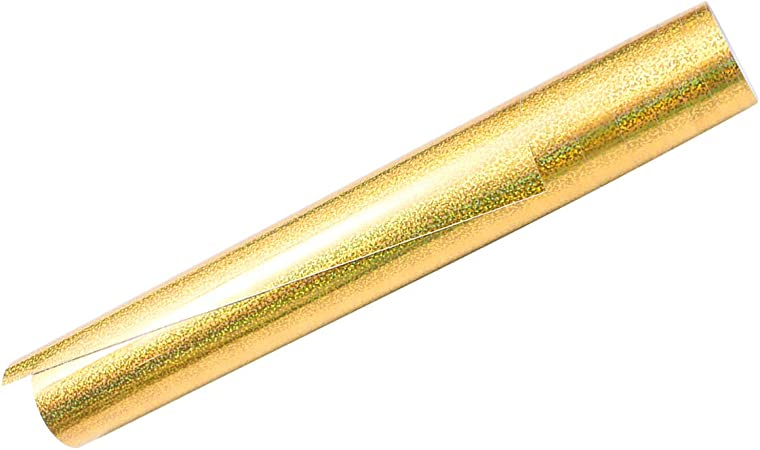 HEALLILY Vinilo de transferencia de calor con brillo de hierro dorado en cinta de transferencia artesanal de vinilo para tablero de muebles de ropa de bricolaje 30.5x155 cm: Amazon.es: Hogar