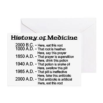 Amazon cafepress history of medicine greeting card note cafepress history of medicine greeting card note card birthday card blank m4hsunfo