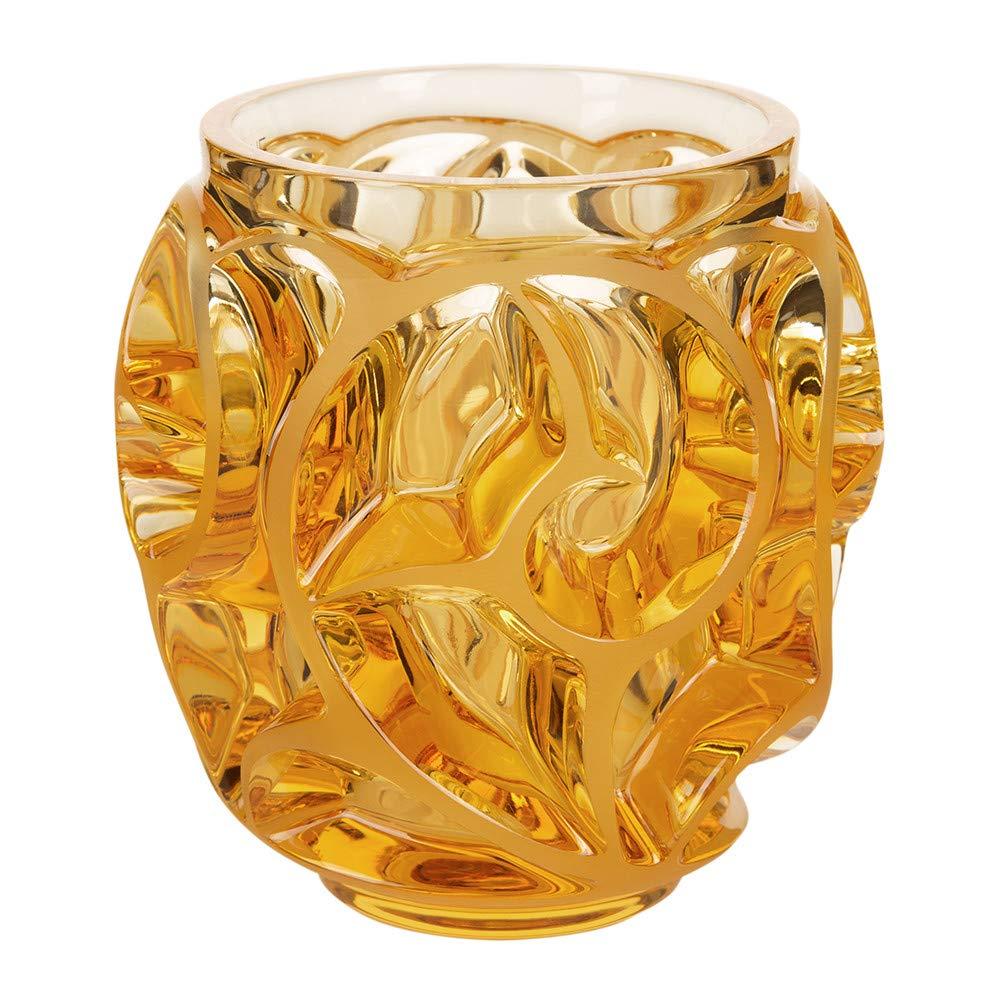Lalique Tourbillons SS Vase - Amber