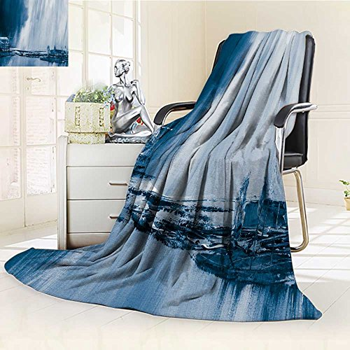 Leighhome Luxury Collection Ultra Soft Plush Fleece Lightweight blue creative abstract hand painted background wallpaper texture close up fragm All-Season Throw/Bed Blanket(60