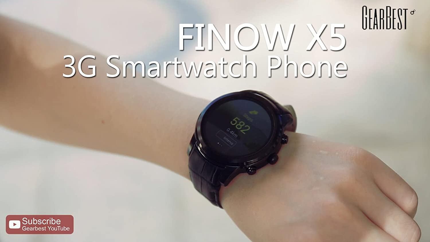 finow X5 Air 3 G Smart Watch Phone Heart Rate Monitor GPS Tracker ...