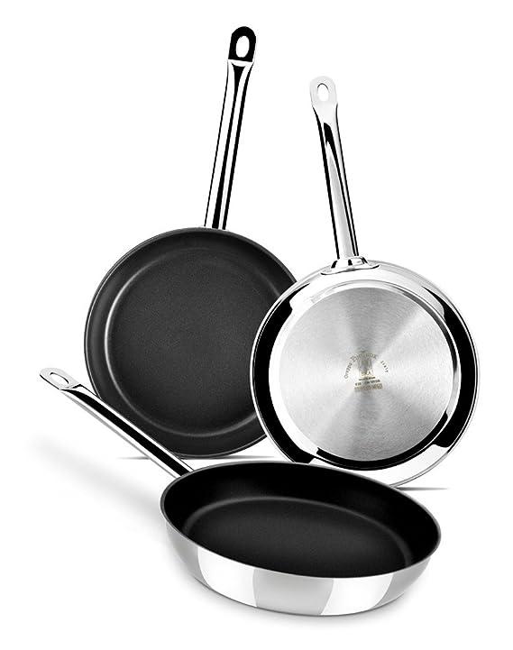 BRA Profesional - Sartén, 30 cm, acero inoxidable 18/10, con antiadherente Teflon Platinum Plus: Amazon.es: Hogar