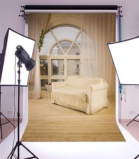 Yongfoto 2x3m Sfondo Fotografico Interni Soggiorno French Sash