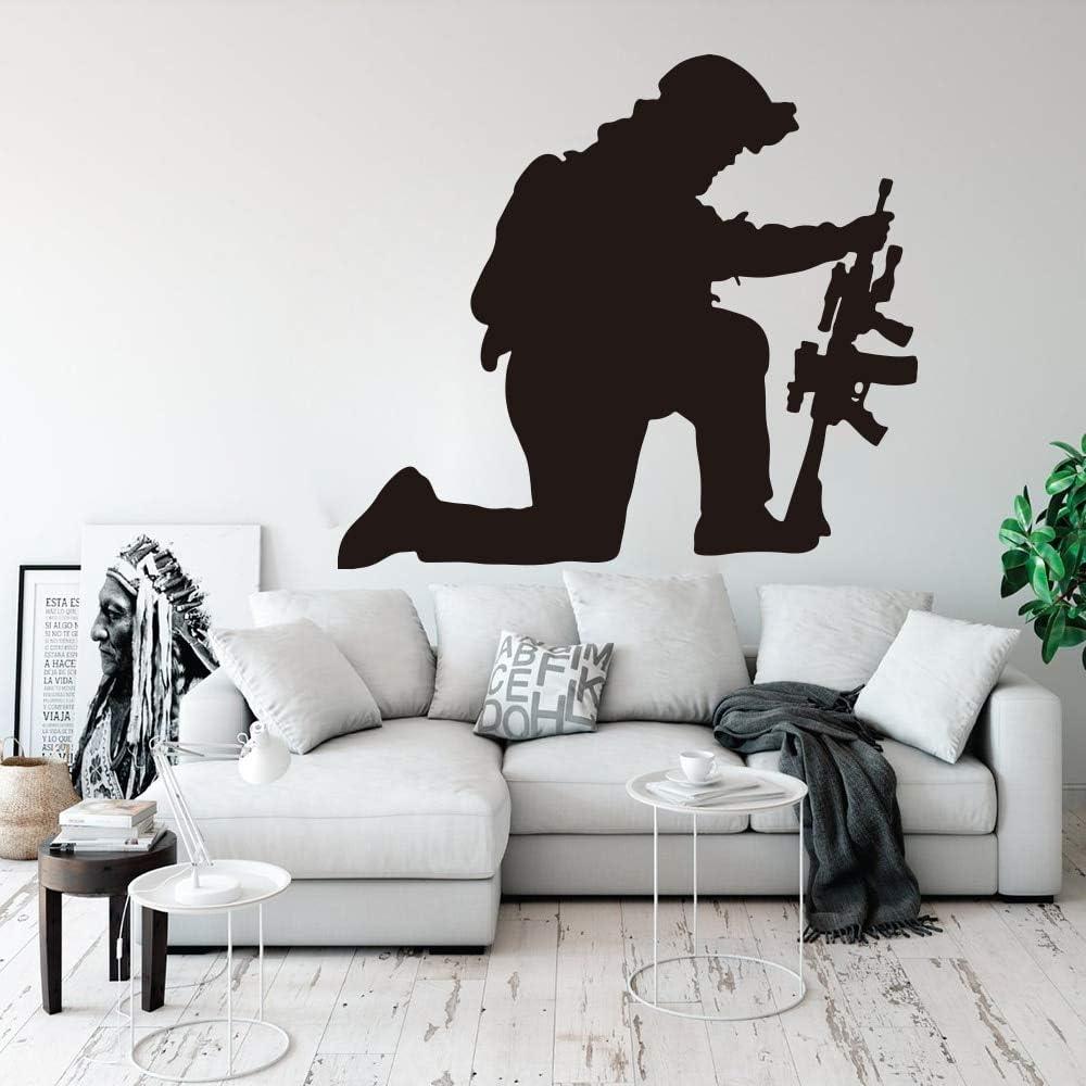 JAXA Ejército soldado arrodillado pistola tatuajes de pared ...