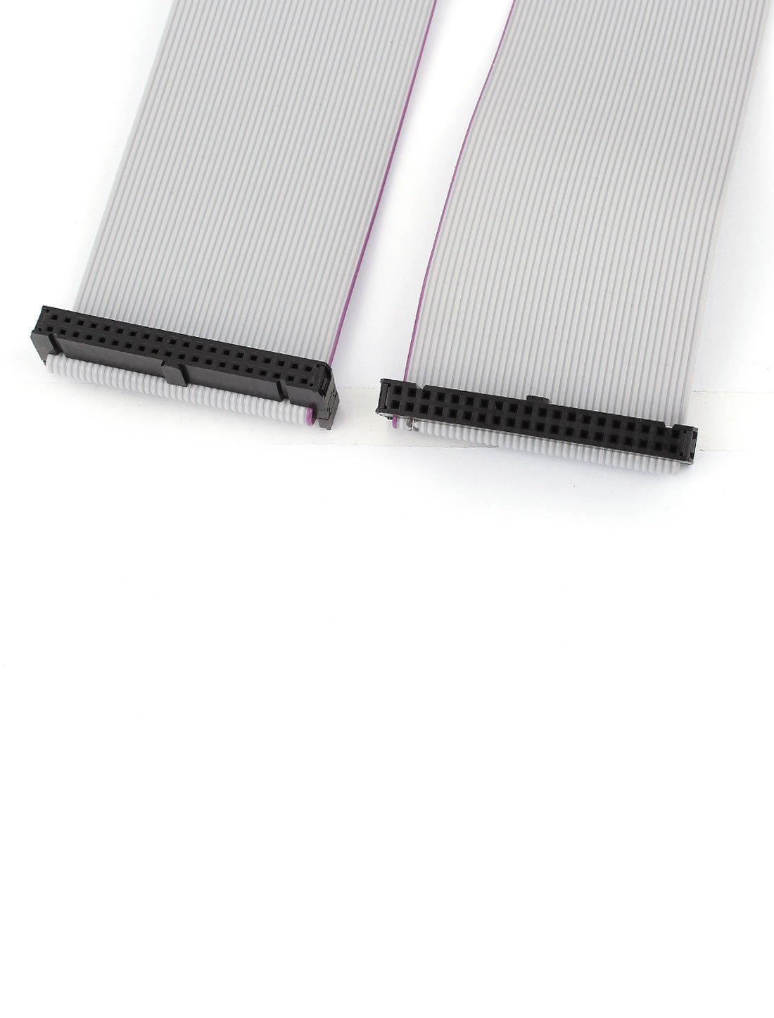 HLin 2Pcs 2.54mm Pitch 40Pin F//F IDC Connector Motherboard Flat Ribbon Cable 1M Length