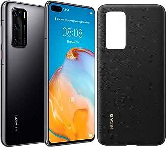 HUAWEI P40 128 GB 6.1 Inch Smartphone Bundle with PU Case, Kirin 990 5G, 50 MP Ultra Vision Leica Triple Camera, 8 GB RAM, 22.5W Supercharge, SIM-Free Android Mobile Phone, Dual SIM, Black