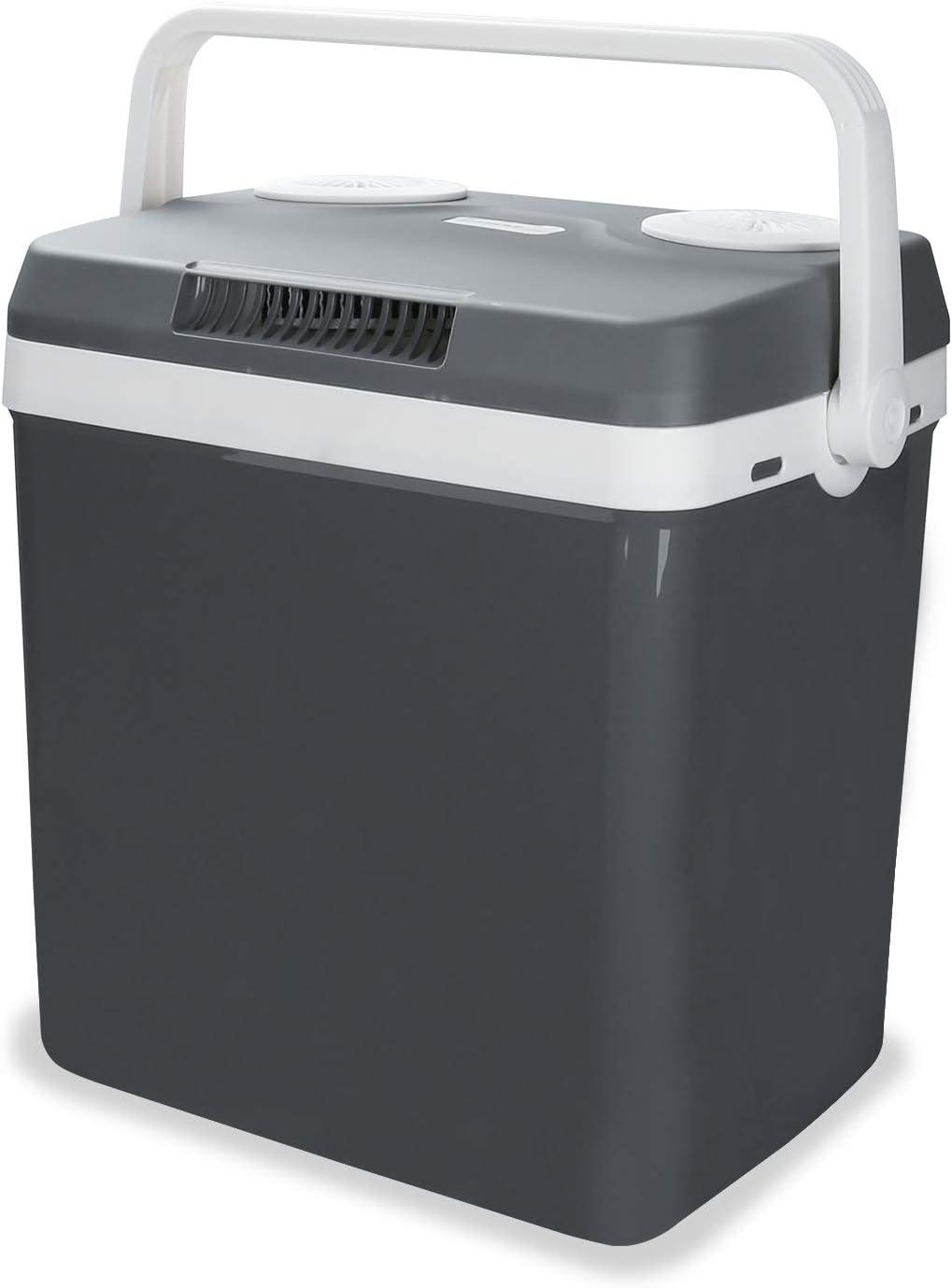 Hengda Nevera termoeléctrica portátil 32L, Conexiones 12/230 V, Mantiene el frío y el Calor, para Camping, Coche, picnics, Familia