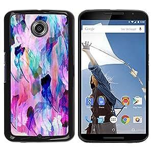 Be Good Phone Accessory // Dura Cáscara cubierta Protectora Caso Carcasa Funda de Protección para Motorola NEXUS 6 / X / Moto X Pro // Nature Feather Pastel Art Colors