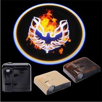 Bestmy Firebird Logo 2 piezas inalámbrico coche LED puerta ...