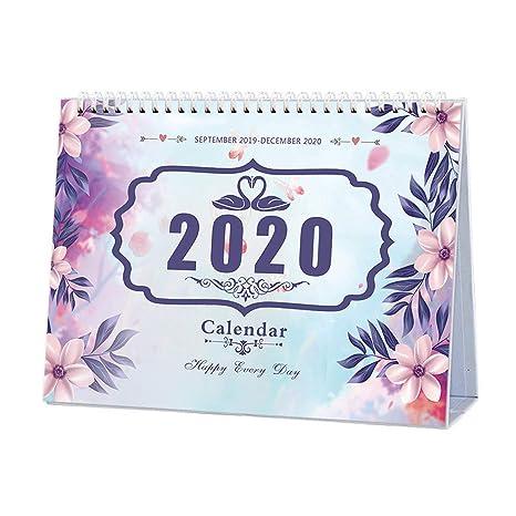 Home Runs 2020.Desk Calendar 2019 2020 Runs From September 2019 To December 2020 Twin Wire Binding Desktop Calendar Monthly Planner Daily Calendar Planner For