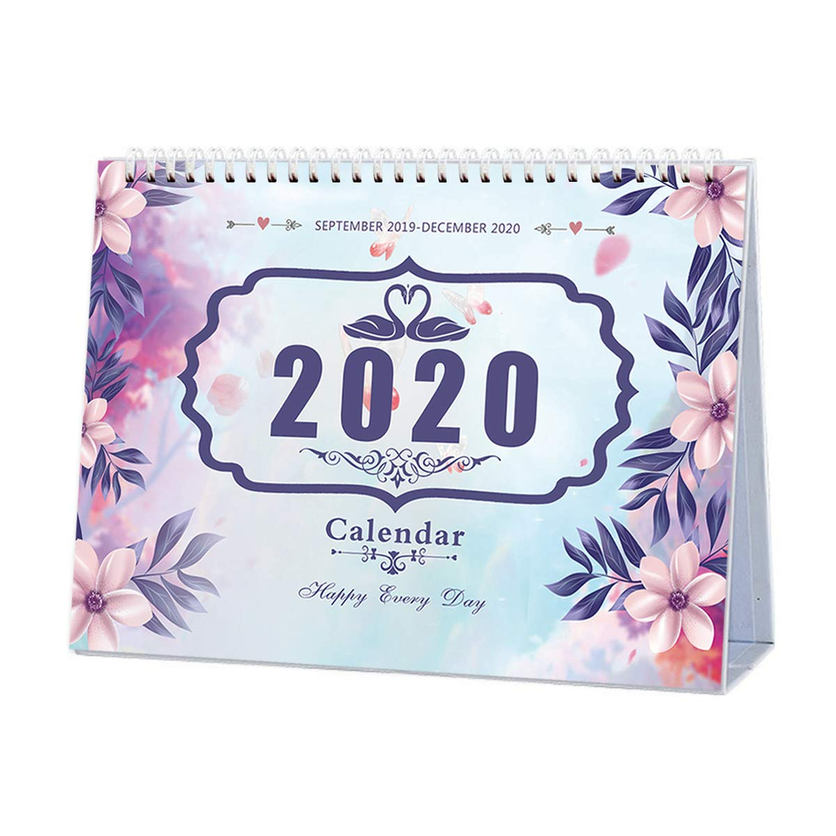 Office Monthly American Holiday Twin Wire Home Daily Planner Desktop Calendar Academic Year Planner for School 2020 Desk Pad Calendar December 2020 September 2019