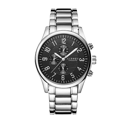 Relojes militares militares de lujo Reloj deportivo impermeable de acero de tungsteno del ejército de los