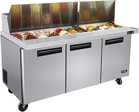 KITMA - Mesa refrigeradora para preparar sándwiches de 72 pulgadas ...