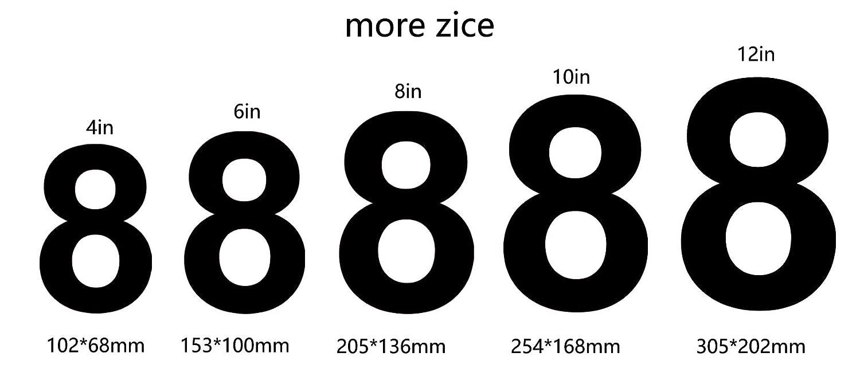 Apariencia flotante 10in Letter a F/ácil de instalar y hecho de acero inoxidable s/ólido nanly N/úmero de casa moderna-25.4cm//10 NEGRO pulgadas-Acero inoxidable