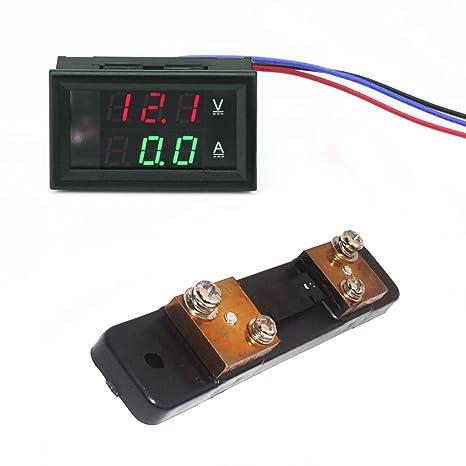 Schema Elettrico Voltmetro Per Auto : Linchview mini tubo digitale 3 cifre 0 28 led amperometro voltmetro
