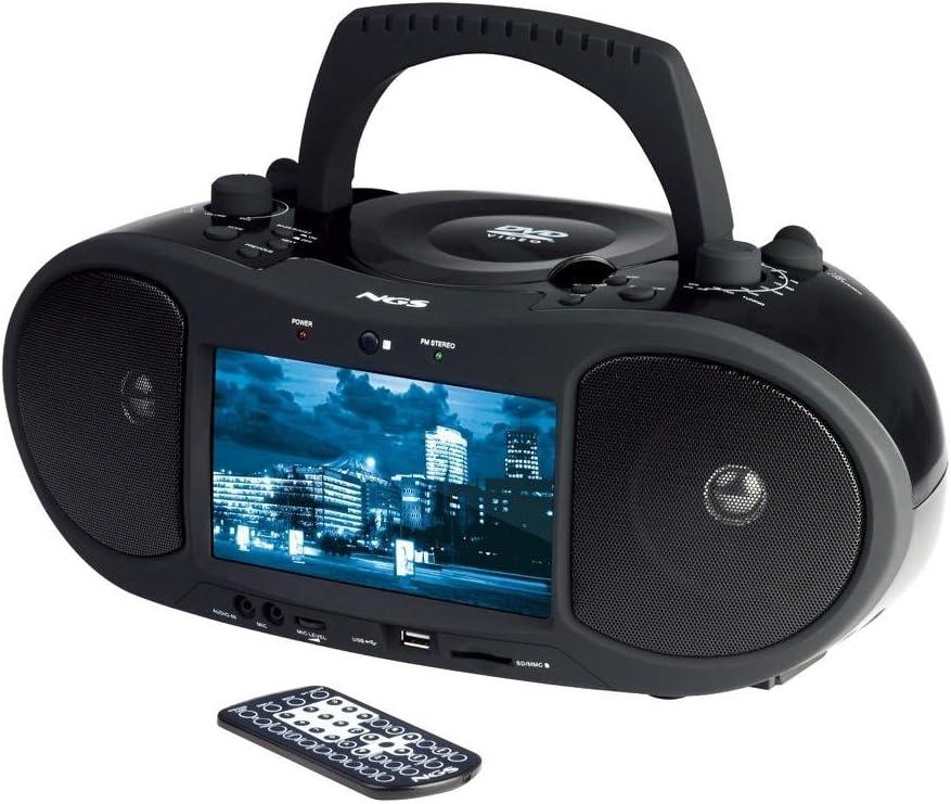 NGS Box TV - Boombox Microcadena DVD Dig. TV FM Radio: Amazon.es ...