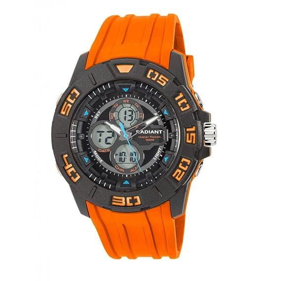 Radiant Reloj Cronógrafo para Hombre de Cuarzo con Correa en Caucho RA318603: Amazon.es: Relojes
