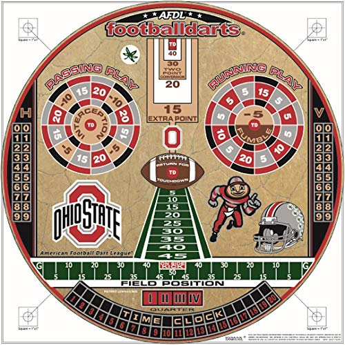 FOOTBALLDARTS Officially Licensed Ohio State Buckeyes Football Dartboard Game Collection