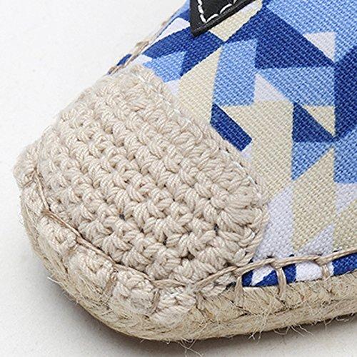 Pigre Scarpe Singole Lino Donna Sandales da Paglia Scarpe di Nuovo Blue Traspirante Pescatore Scarpe Basse Scarpe Estate Scarpe XwdOqOxatn