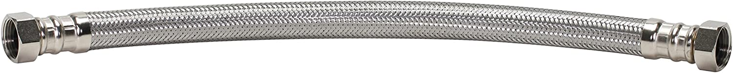 Nickel 1000 Psi Inch Fluidmaster GIDDS-481020 B1H24 Water Heater Connector 3//4 In 24 In L Stainless Steel Fip