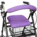 Top Glides Playful Purple Universal Rollator Walker Seat and Backrest Covers (Purple)