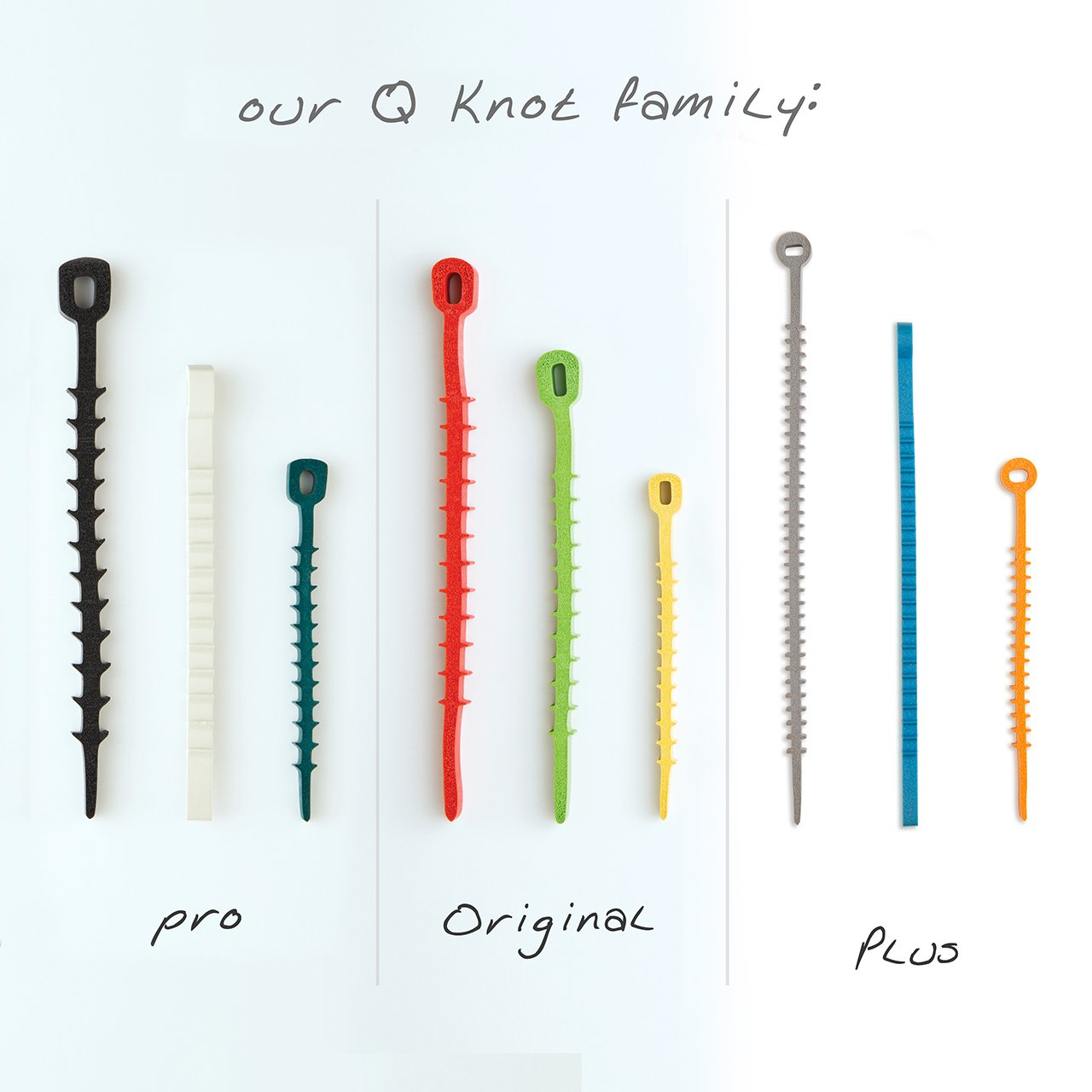 50 Q*Knot Rubber Zip Ties Reusable Fasteners Heavy Duty Cords Crafts Assortment by UT Wire by UT Wire