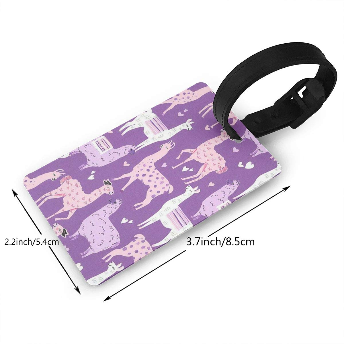 Cute Llama Cruise Luggage Tag For Travel Tags Accessories 2 Pack Luggage Tags